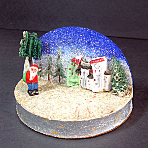 Japan Composition Santa Diorama Scene Christmas Display (Image1)