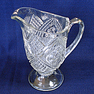 Indiana Juno Double Pinwheel Eapg Glass Pitcher