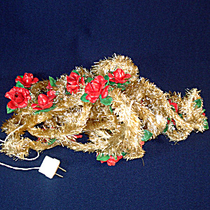 Italian Red Rose Christmas Lights On Visca Garland