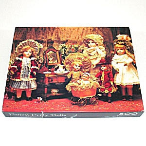 Fancy Frilly Antique Dolls Springbok Jigsaw Puzzle