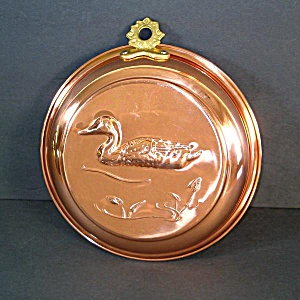 Large Old Dutch Copper Duck Mold