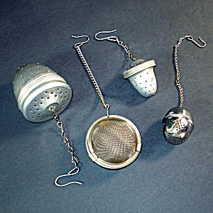 4 Assorted Vintage Tea Ball Infuser Strainers