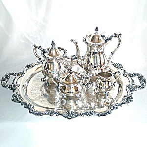 Poole Bristol Silverplate 5 Piece Coffee Tea Service (Image1)