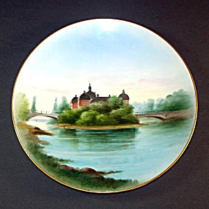 Rorstrand Hand Painted Stromsholms Stott Palace Scenic Plate
