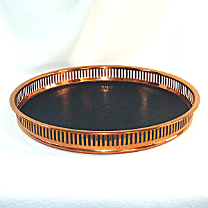 Coppercraft Guild Copper Black Vinyl Gallery Tray