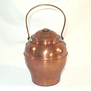 Copper Tea Caddy Ginger Jar Shape (Image1)