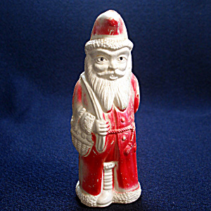 Irwin Celluloid Belsnickle Santa With Doll Christmas Figure Toy (Image1)