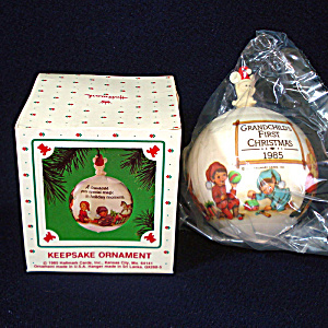 Hallmark 1985 Grandchild's First Christmas Ornament Mint In Box