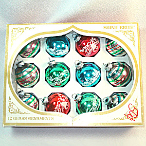 Box Shiny Brite Small Stencil, Stripes Glass Christmas Ornaments (Image1)