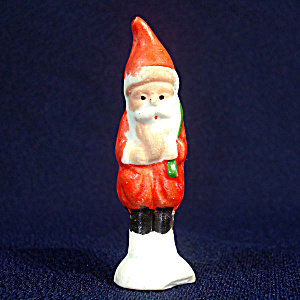 1930s Japan Small Bisque Christmas Santa Figurine (Image1)