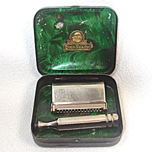 Ever Ready 1920s Single Edge Safety Razor In Case