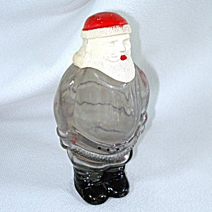1940s Glass Santa Claus Christmas Candy Container