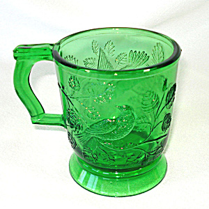 Mosser Green Robin In Tree Glass Mug Or Cup
