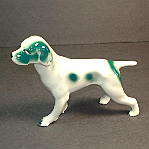 Hound Pointer Retriever Ceramic Dog Figurine