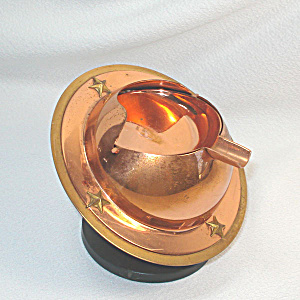Cavalier Copper Saturn Planet Stars Tilting Ashtray (Image1)