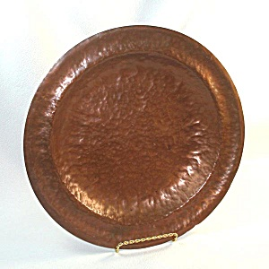 Heavy 12 Inch Hammered Copper Charger Plate