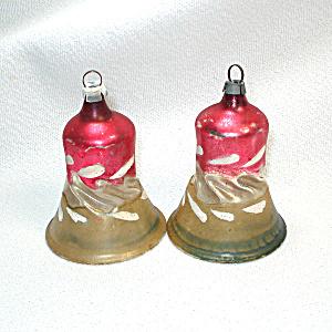 Germany Blown Glass Twist Clapper Bells Christmas Ornaments (Image1)