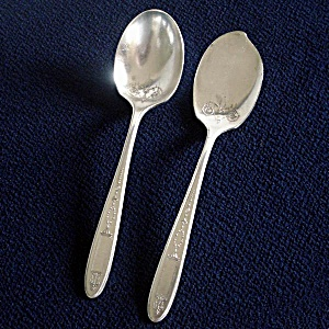 Grosvenor Oneida 1921 Silverplate Jelly Server And Sugar Spoon