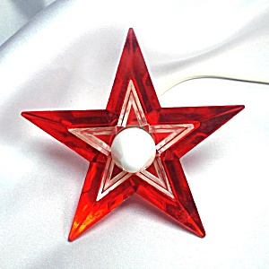 Noma Glo Star Lighted Lucite Christmas Tree Topper (Image1)