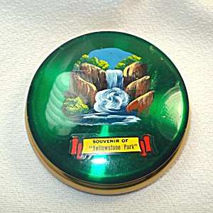 Yellowstone Park Hand Painted Souvenir Compact