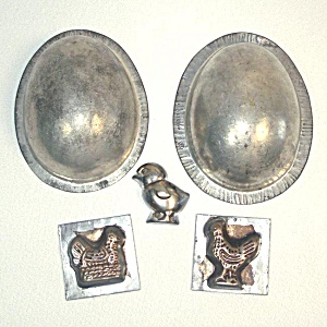 3 Metal Easter Chocolate And Eppelsheimer Egg Candy Molds