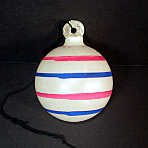 Patriotic Stripes Unsilvered Christmas War Ornament Paper Cap
