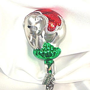Circus Elephant Clip On Christmas Ornament