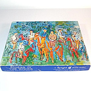Riders In The Woods Springbok Art Jigsaw Puzzle 1970