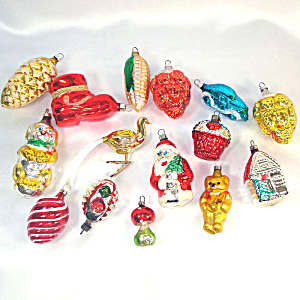 15 Figural West German Glass Christmas Ornaments (Image1)