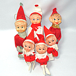 6 Felt Knee Hugger Japan Christmas Pixie Elves