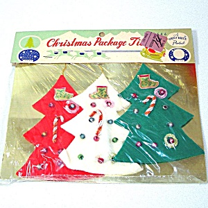 Shiny Brite Sealed Pack Christmas Tree Gift Ties Ornaments