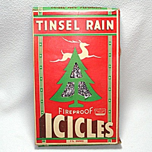 Box Tinsel Rain 1930s Christmas Lead Tinsel Icicles