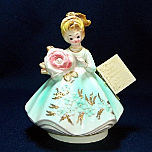 Josef Originals June Birthday Girl Music Box