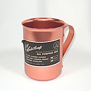 Color Craft Pink Aluminum Mug Mint With Label
