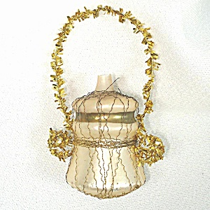 Wire Wrapped Glass Urn Or Vase Christmas Ornament