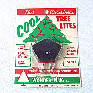1950s Christmas Lights Wonder Plug Current Saver