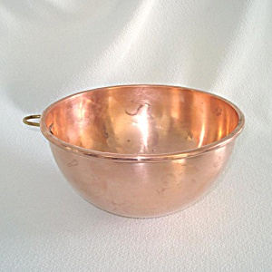 Quality Copper Mixing Bowl Made In England