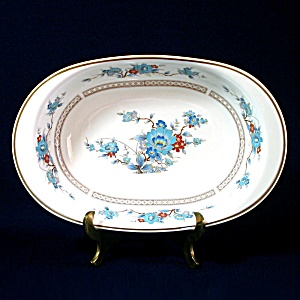 Noritake Bleufleur Oval Vegetable Serving Bowl