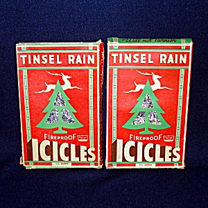 2 Boxes Tinsel Rain 1930s Christmas Lead Tinsel Icicles