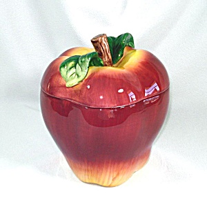 Ceramic Apple Cookie Jar