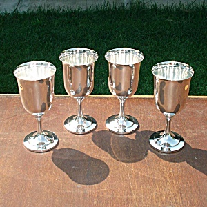 Oneida Silverplate Wine Goblets Set Of 4
