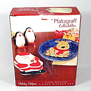 Pfaltzgraff Holiday Helpers Christmas Serving Set In Box