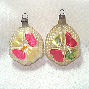 German Bumpy Flower Petal Feather Tree Christmas Ornaments
