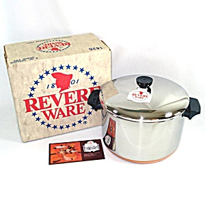 Revere Ware Copper Bottom 6 Quart Stock Pot Mint In Box