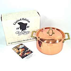 Revere Ware Solid Copper 3 Qt Buffet Casserole Mint In Box