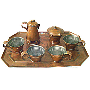 Antique Copper Childs Play Tea Set (Image1)