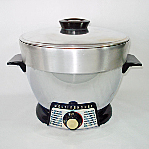 Westinghouse 1950s Black Chrome Electric Cooker Fryer