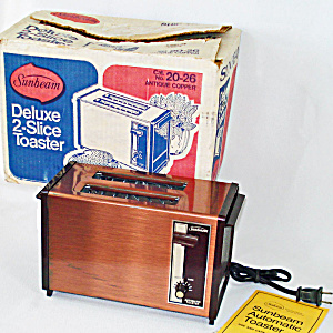 Sunbeam Copper Toaster In Original Box
