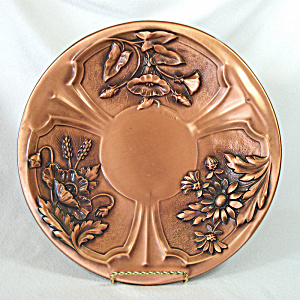 Albert Gilles Copper Flower Wall Charger