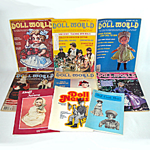 9 Issues Doll World Doll News Magazines 1970s
